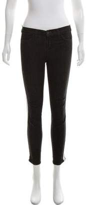 J Brand Cropped Mid-Rise Jeans