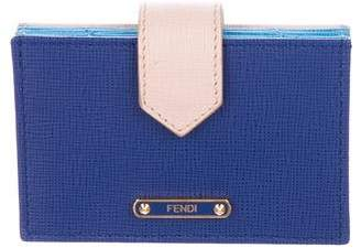 Fendi Vitello Elite Leather Card Holder