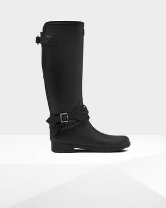 Hunter women's refined tall back adjustable biker boots