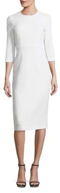 MICHAEL Michael Kors Michael Kors Collection Solid Stretch Wool Dress