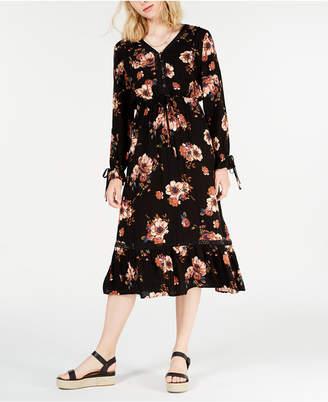 American Rag Juniors' Floral-Print Midi Dress