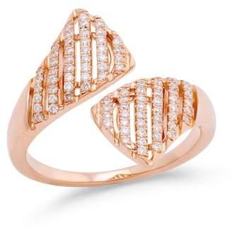 DANA REBECCA 14K Rose Gold Jeb Diamond Ring - Size 6.5 - 0.32 ctw