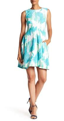 Taylor Tropical Print Fit & Flare Dress