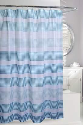 Moda At Home Multi Bluescale Stripe Shower Curtain