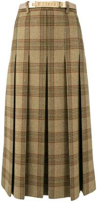 Gucci checked A-line skirt