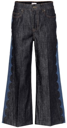 RED Valentino Wide-leg cropped jeans
