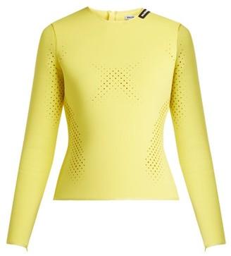 Balenciaga Perforated Neoprene Top - Womens - Light Yellow