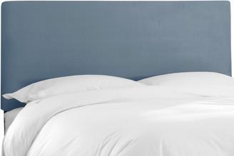Skyline Furniture Queen Upholstered Headboard in Velvet Ocean