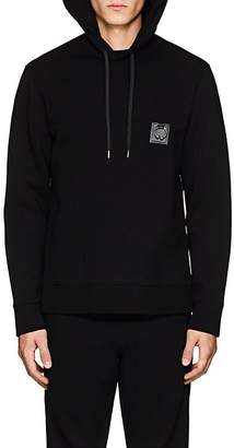 Neil Barrett Men's Piercing-Patch Neoprene Hoodie