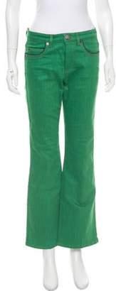 Sonia Rykiel Mid-Rise Wide-Leg Jeans green Mid-Rise Wide-Leg Jeans