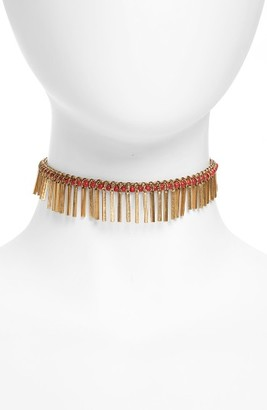 Women's Treasure & Bond Stone Fringe Choker $45 thestylecure.com
