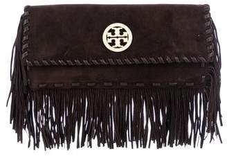 Tory Burch Suede Fringe Clutch