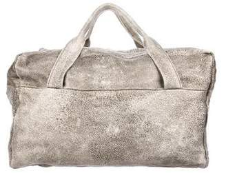 Ann Demeulemeester Distressed Leather Duffle Bag