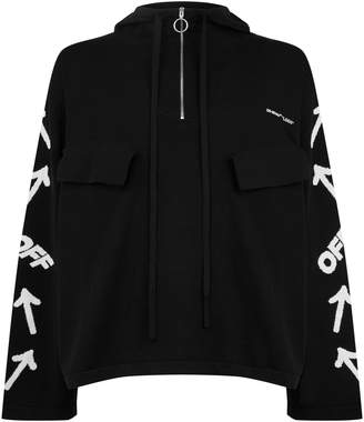 Off-White Off White Hooded Jacquard Logo Sweater