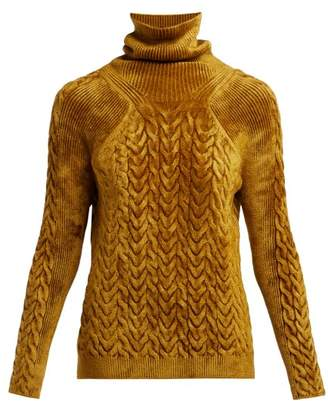 Haider Ackermann Aralia Chenille Roll Neck Sweater - Womens - Light Brown
