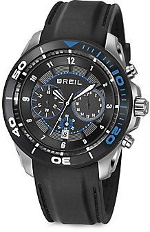 Breil Milano ラウンドクロノグラフ腕時計 – black-blue