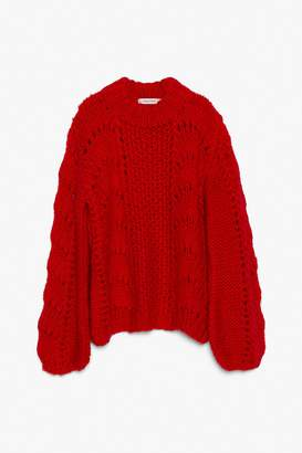 Genuine People Mohair Blend Knit Sweater