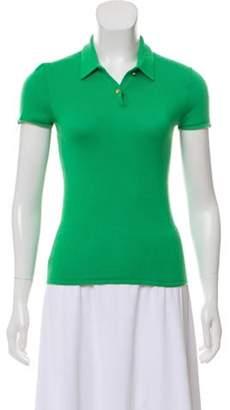 Ralph Lauren Silk Knit Short-Sleeve Top Silk Knit Short-Sleeve Top