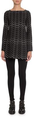 Alaia Bell-Sleeve Tunic Dress