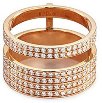 Repossi 'Berbère Module' diamond 18k rose gold two row ring