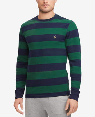 Polo Ralph Lauren Men's Striped Waffle-Knit Thermal