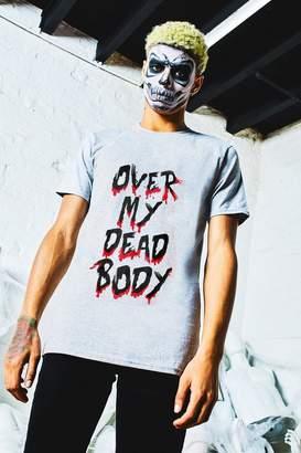 boohoo Halloween Over My Dead Body Slogan T-Shirt