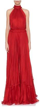 Maria Lucia Hohan Zyna Tie-Neck Gown
