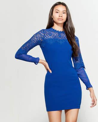 Kensie Cobalt Lace Detail Sheath Dress