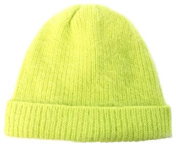 Acne Kit angora ribbed hat