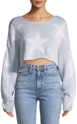 Wildfox Couture Star-Crossed Cropped Sweater
