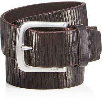 John Varvatos Star USA Laser-Scored Strap Belt with Harness Buckle $98 thestylecure.com