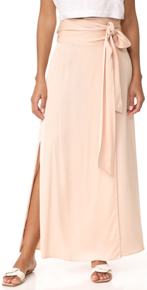 Elizabeth and James Almeria Wrap Tie Skirt with Slit $345 thestylecure.com