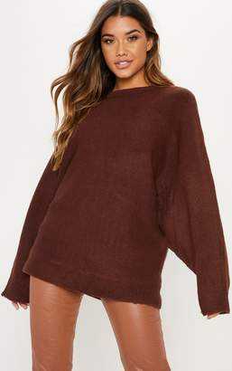 PrettyLittleThing Brown Knitted Jumper