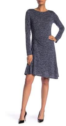 596d7283f4b Max Studio Space Dye Front Twist Long Sleeve Dress