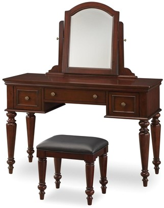 Lafayette Home Styles Vanity Table With Mirror & Bench Set