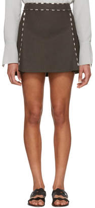 Chloé Brown Studded Miniskirt