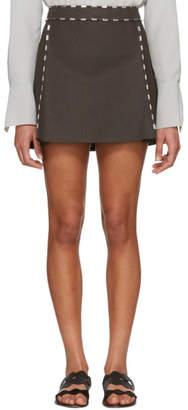 Chloé Brown Studded Miniskirt