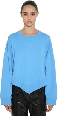 MM6 MAISON MARGIELA Oversized V Hem Cotton Sweatshirt