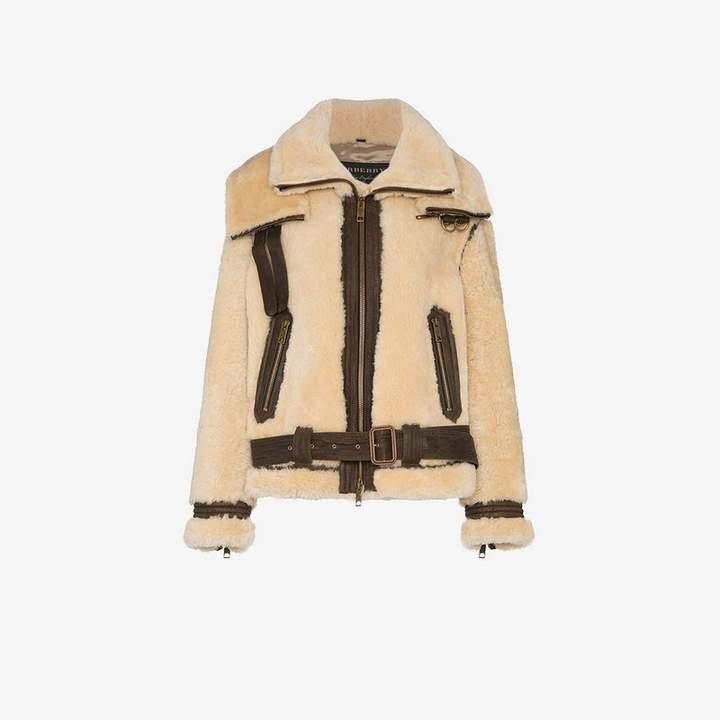 Oversized Shearling Aviator Jacket