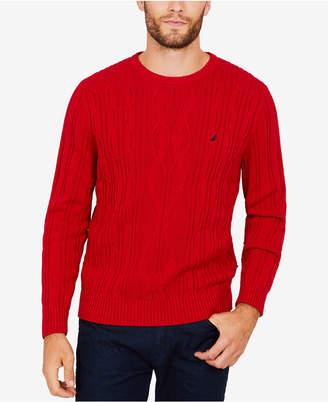 Nautica Men's Cable-Knit Sweater