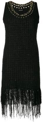Balmain fringe-trimmed tweed dress