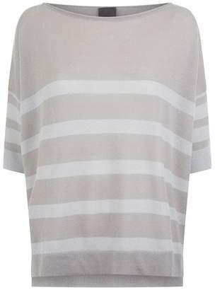 Lorena Antoniazzi Striped Short-Sleeved Sweater