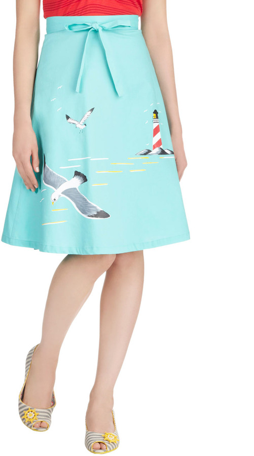 Bettie Page Long Time No Seagull Skirt