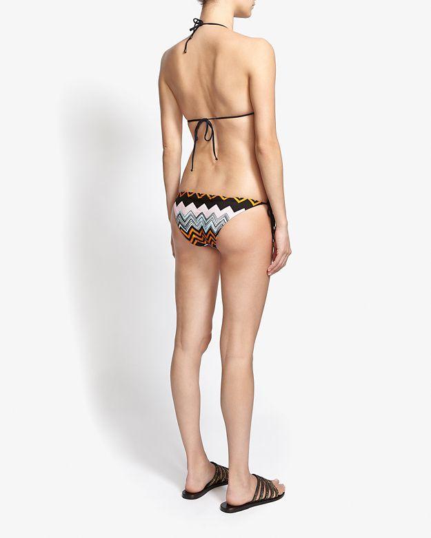 Missoni Mare Chevron Pattern Triangle String Bikini