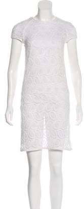 Burberry Embroidered Knee-Length Dress