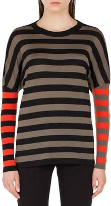 Akris Punto Contrast Stripe Pullover