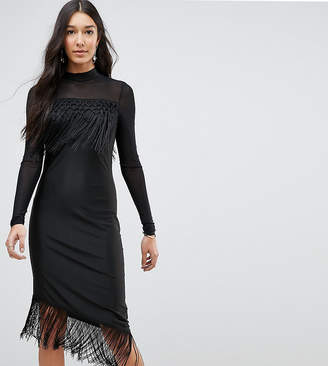 Y.A.S Tall Bodycon Dress With Fringing