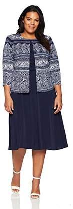 0887e7d043827 Jessica Howard Women s Plus Size Printed Jacket Dress