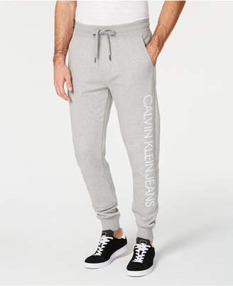 Calvin Klein Jeans Men's Reflective Logo Fleece Jogger Pants