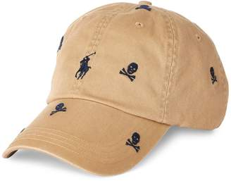Polo Ralph Lauren Skull Chino Cotton Baseball Cap